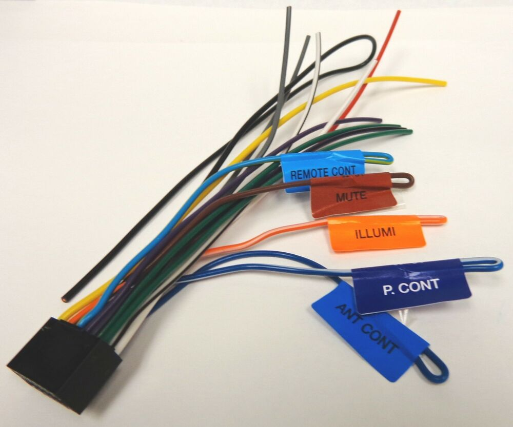 Kenwood Wiring Harness Diagram Schemes Kdc 152 Stereo Original Wire Ddx271 Ddx371 Ebay