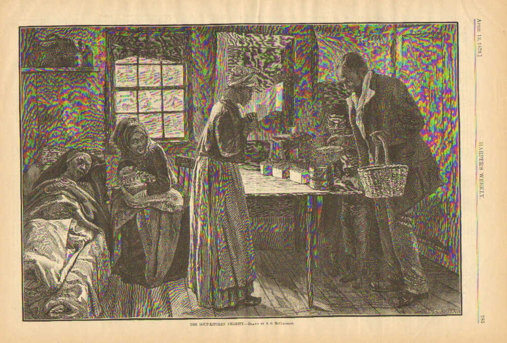 Black Americana Soup Kitchen Charity Poverty Poor 1879