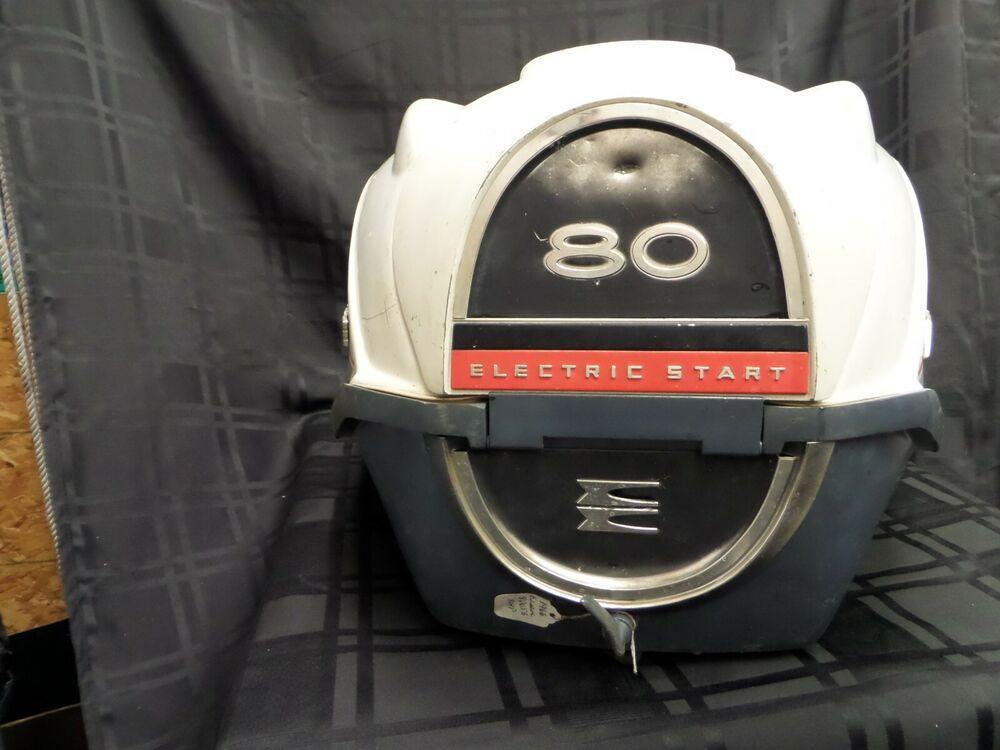 1966 evinrude 80653 80hp cowl cover 278967 boat motor for Boat motor covers johnson