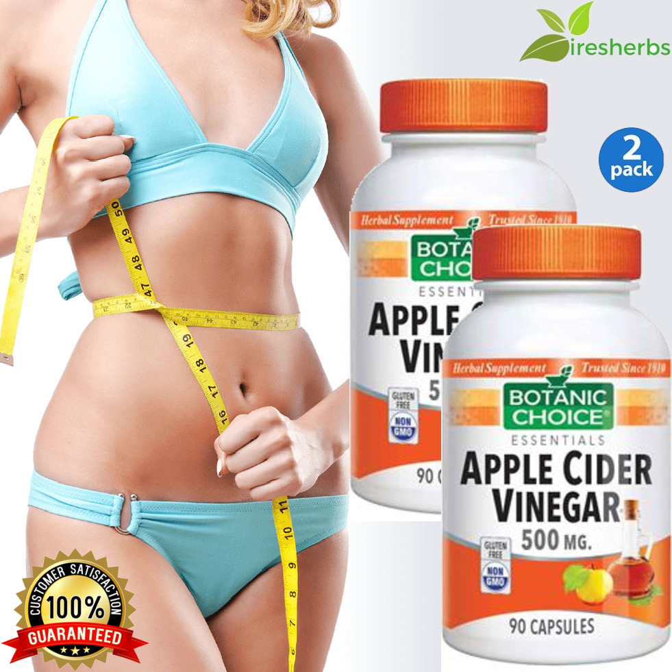 APPLE CIDER VINEGAR 500mg DIET POTENT WEIGHT LOSS ENERGY