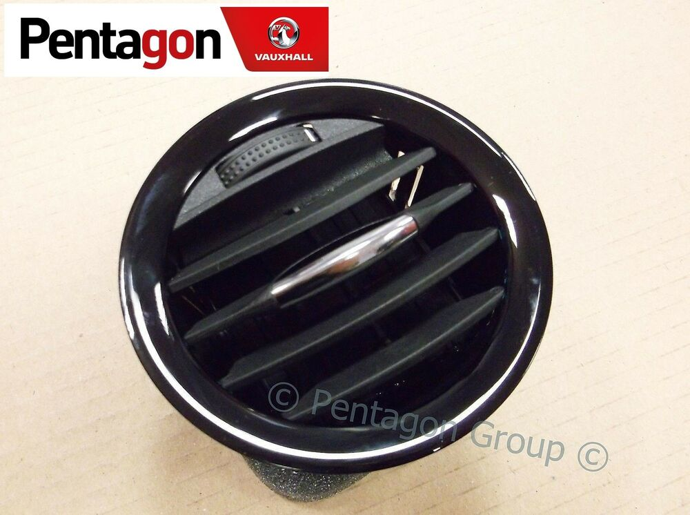 new genuine vauxhall corsa d gloss black centre outer heater air vent 13417362 ebay. Black Bedroom Furniture Sets. Home Design Ideas