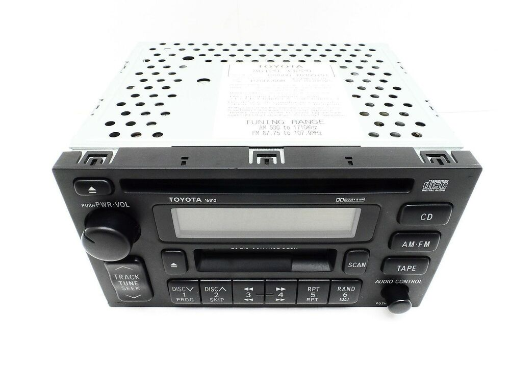 oem toyota 16810 am fm stereo cassette tape cd player. Black Bedroom Furniture Sets. Home Design Ideas