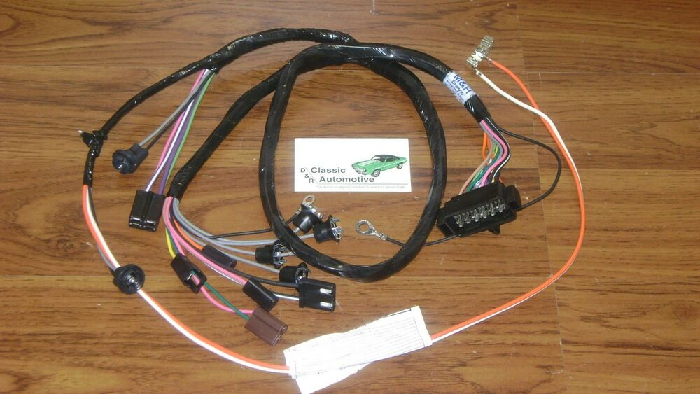 console wiring harness made in usa 67 camaro automatic transmission w/gauges | ebay 67 camaro wire harness