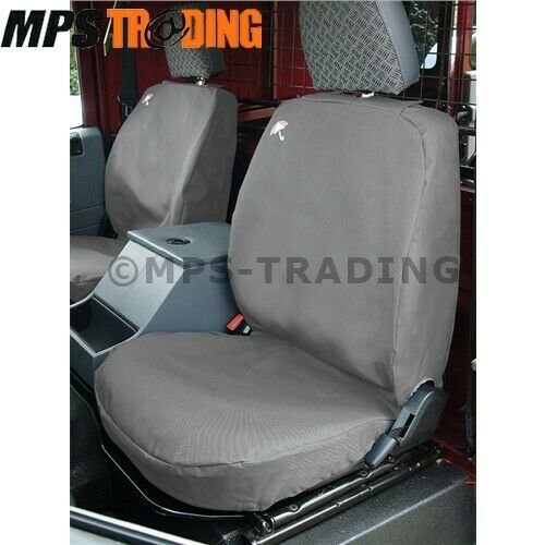 LAND ROVER DEFENDER GREY WATERPROOF SEAT COVERS FRONT ROW