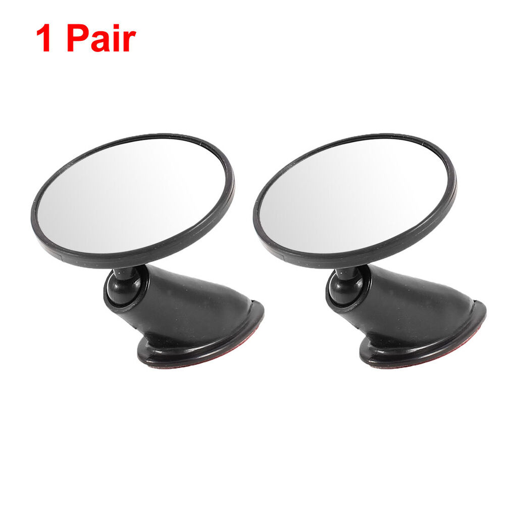 pair adhesive 5cm round convex rearview blind spot mirror. Black Bedroom Furniture Sets. Home Design Ideas