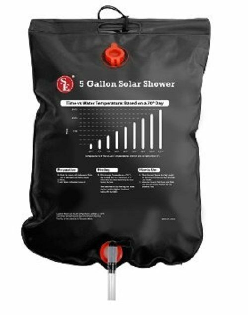 Portable Shower Bag : L outdoor camping hiking solar energy heated camp shower