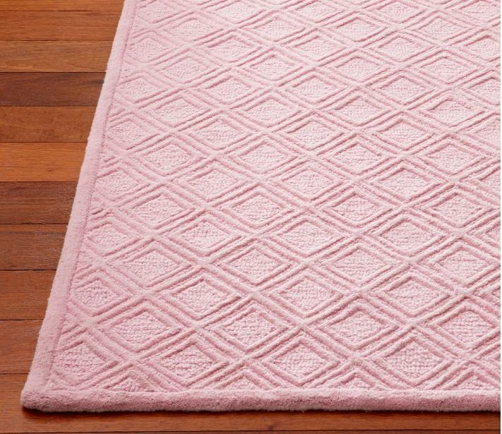 Pottery Barn Kids Somerville Rug Pink 3x5 Feet Sealed New