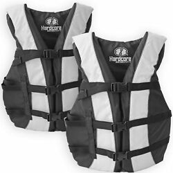 Kyпить 2 Pack Hardcore Adult Life Jacket PFD Type III Coast Guard Ski Vest White на еВаy.соm