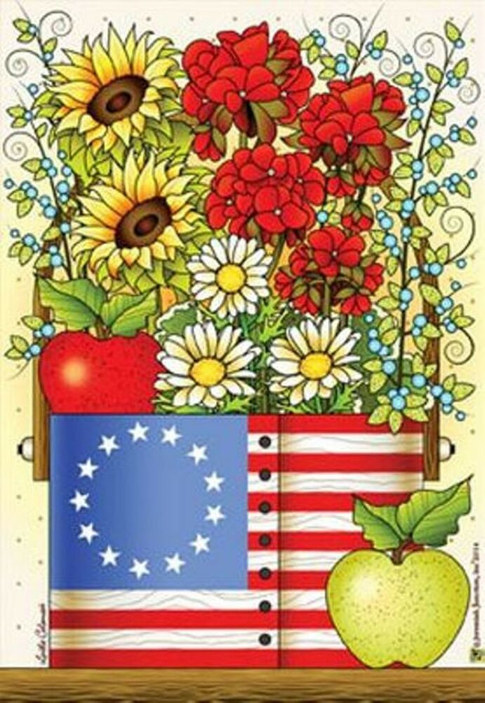 MY COUNTRY BLESSINGS LARGE DECORATIVE GARDEN FLAG YARD ART
