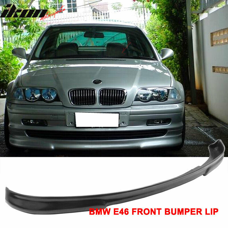99-01 BMW E46 3 Series 4Dr Sedan H2 Style Front Bumper Lip
