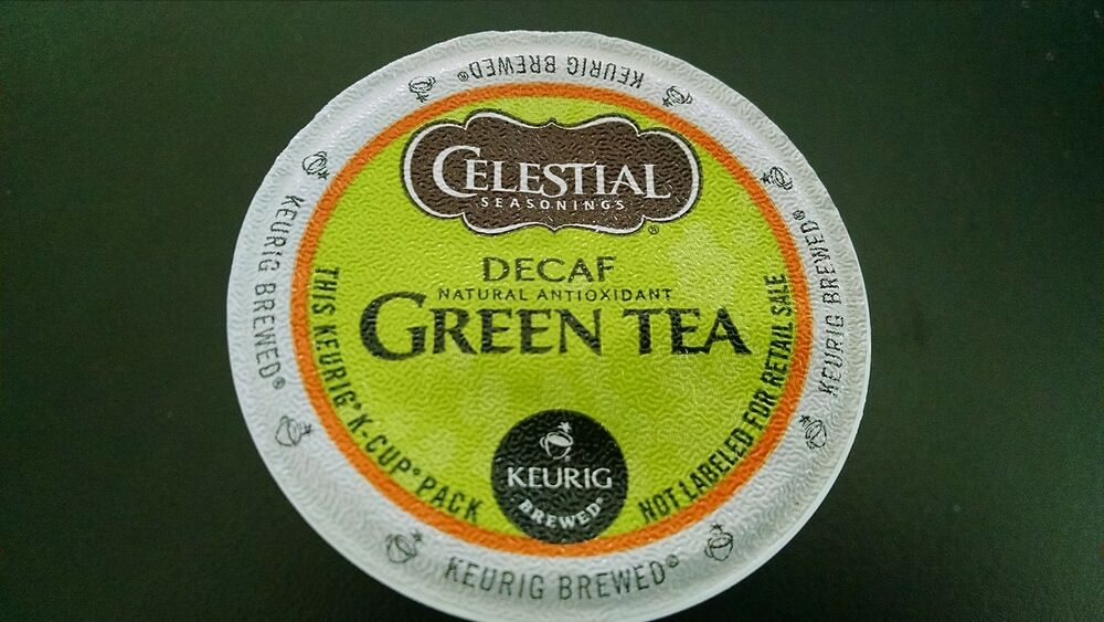 12 Celestial Green Tea Decaf K Cups Blended With White Tea