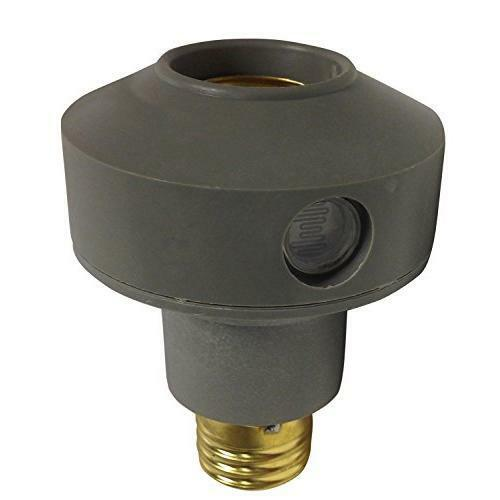 Woods 1472 Outdoor Flood/Spot Light Sensor Socket Switch