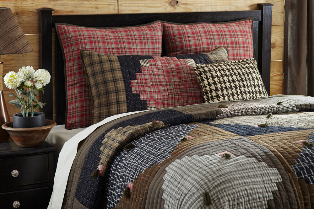 Plaid Comforter Sets Queen Country Plaid 3pc Full Queen