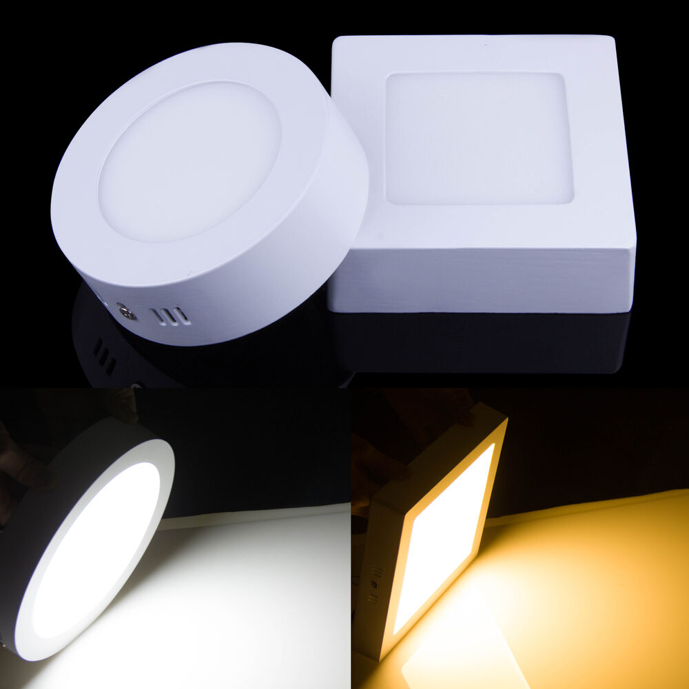 Surface Mount Led Lamp : W led surface panel wall ceiling recessed down