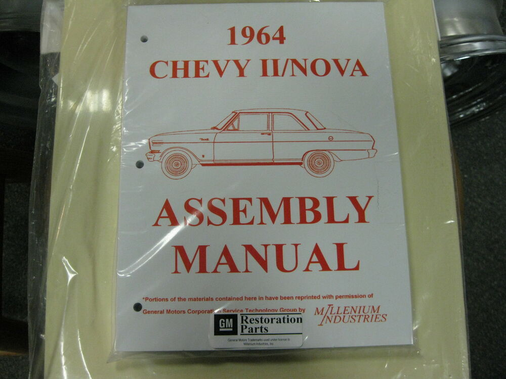 1966 Chevrolet Chevy Ii Nova Parts Manual Guide