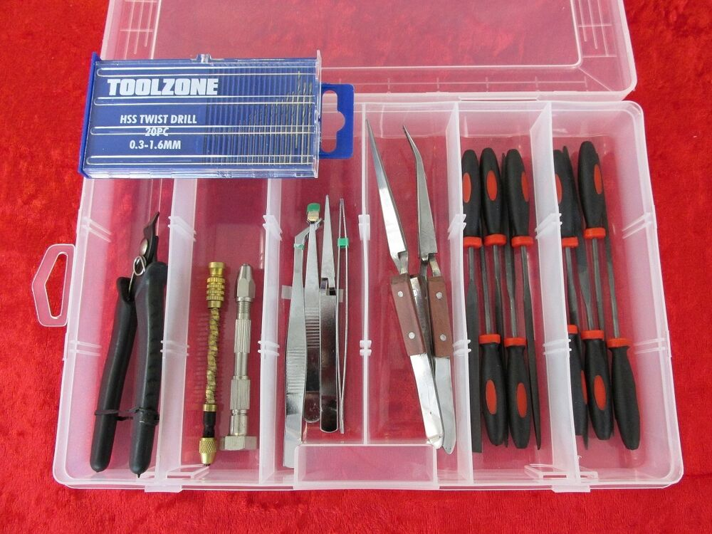 Box set 8 precision craft hobby tools kit drills airfix for Craft and hobby supplies