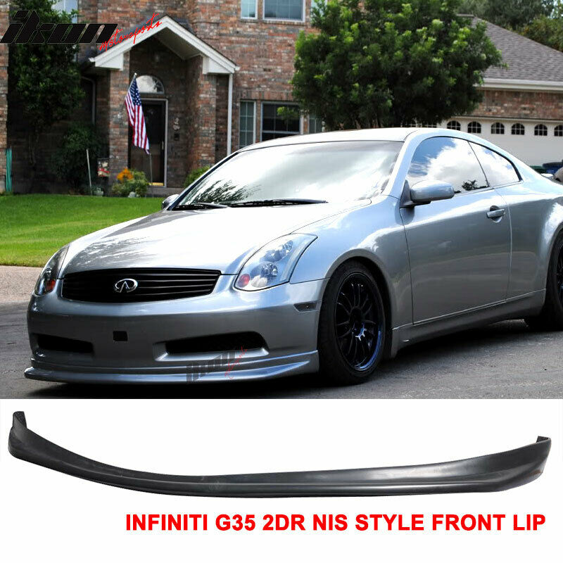 03 06 Fit For Infiniti G35 Coupe Ns Style Front Bumper Lip