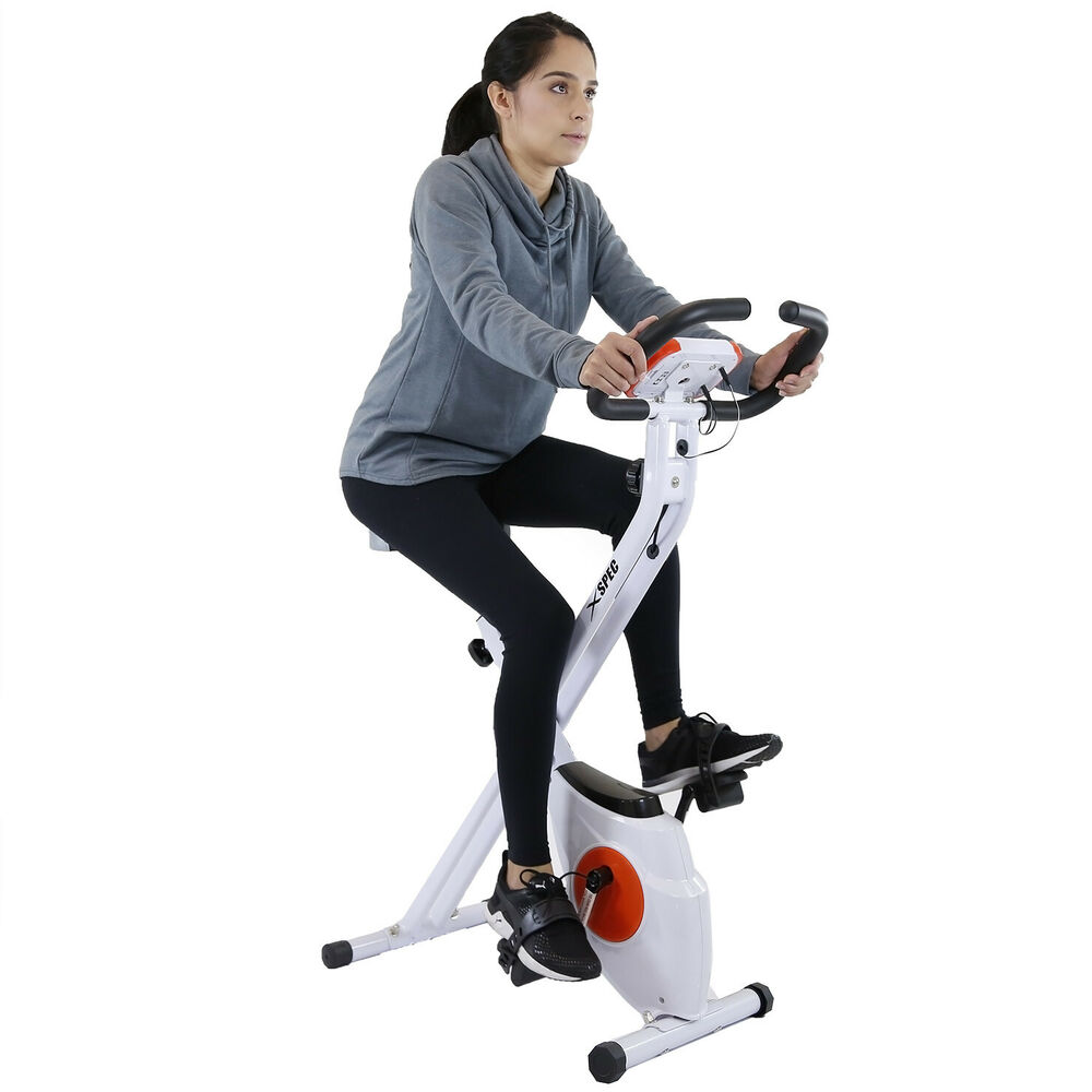 Exercise Bike In Walmart: Xspec Foldable Stationary Upright Exercise Bike Cardio
