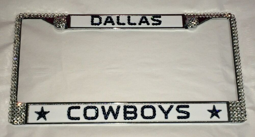 Dallas COWBOYS FOOTBALL Bling License Plate Frame Made With ...