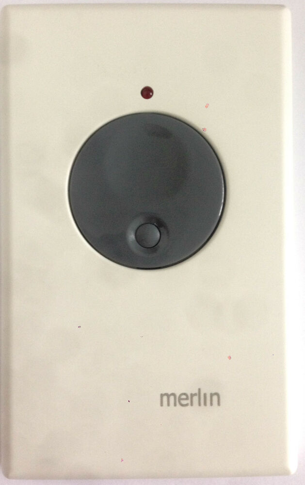 Merlin m two button wire wall switch for