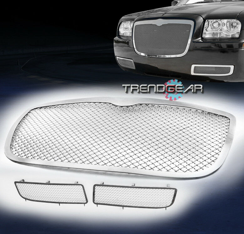 2011 2014 Chrysler 300 300c Fog Light Stainless Steel Mesh: 2005-2010 CHRYSLER 300 FRONT UPPER+BUMPER FOG LIGHT COVER