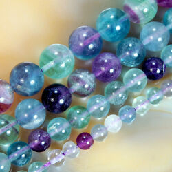 Kyпить Natural Colorful Fluorite Round Beads 15.5'' Pick Size 4mm 6mm 8mm 10mm 12mm на еВаy.соm
