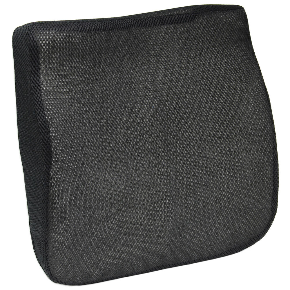 black mesh memory foam car van lower back seat base cushion lumbar support wedge ebay. Black Bedroom Furniture Sets. Home Design Ideas
