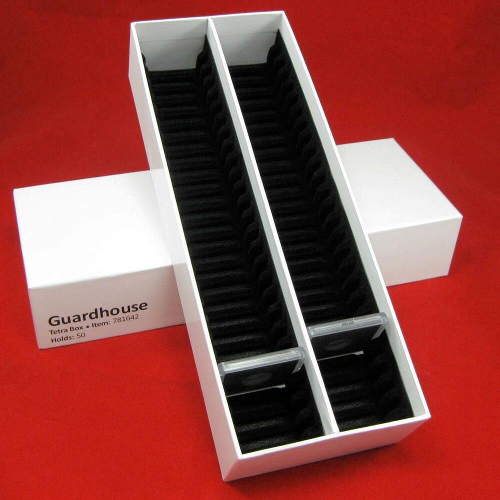 1 Coin Storage Box Holds Up To 50 Plastic Square 2x2 Coin