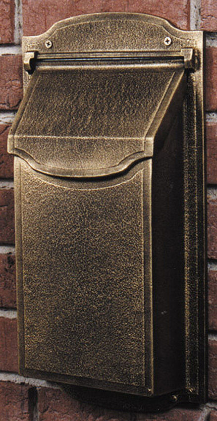 Contemporary Vertical Wall Mailbox Powder Coated Amp Rust
