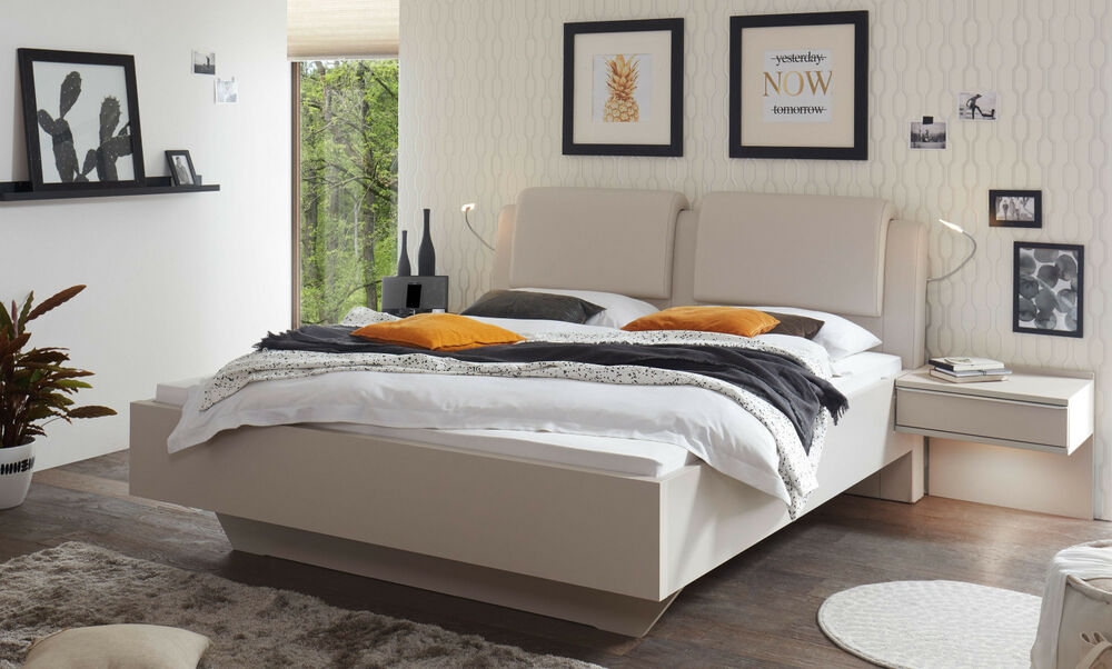 staud sinfonie bett kopfteil polster bettgestell mit polsterkopfteil v farben ebay. Black Bedroom Furniture Sets. Home Design Ideas