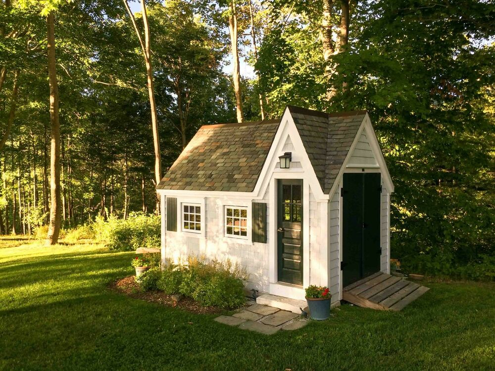 Dollhouse shed diy choose your size yard outdoor tool for Backyard cottage plans