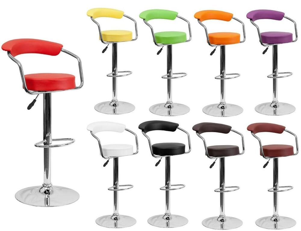 BAR STOOL Contemporary RETRO Vinyl with Arms Adjustable  : s l1000 from www.ebay.com size 1000 x 767 jpeg 58kB
