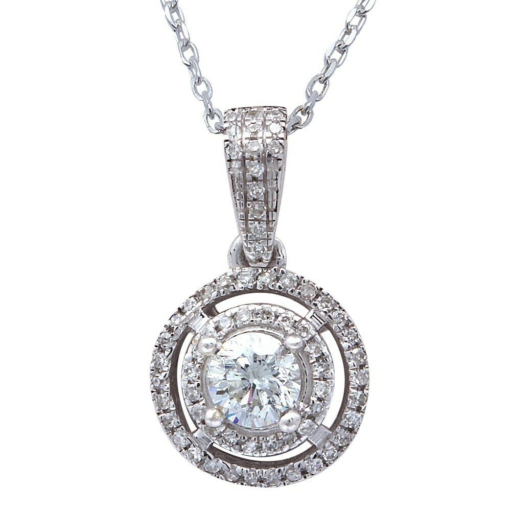 35ct diamond solitaire drop dangle necklace pendant 14kt. Black Bedroom Furniture Sets. Home Design Ideas