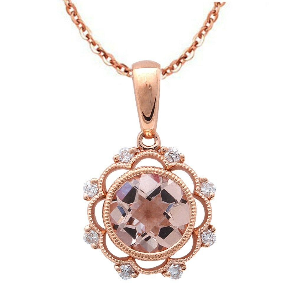 1 16ct F Vs Morganite Amp Diamond Vintage Inspired 14kt Rose