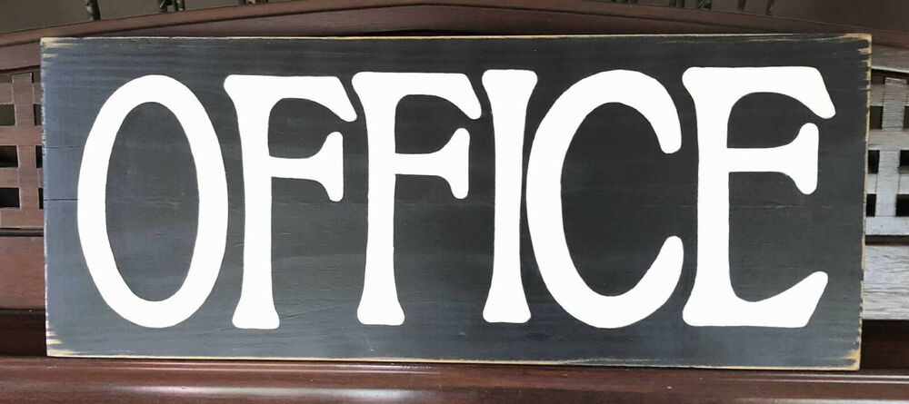 Office sign rustic decor wall decor home small business for I sign decoration