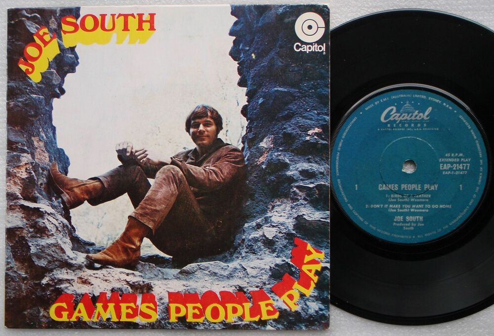 joe south games people play ep australia picture sleeve 4 track rare 45 ebay. Black Bedroom Furniture Sets. Home Design Ideas