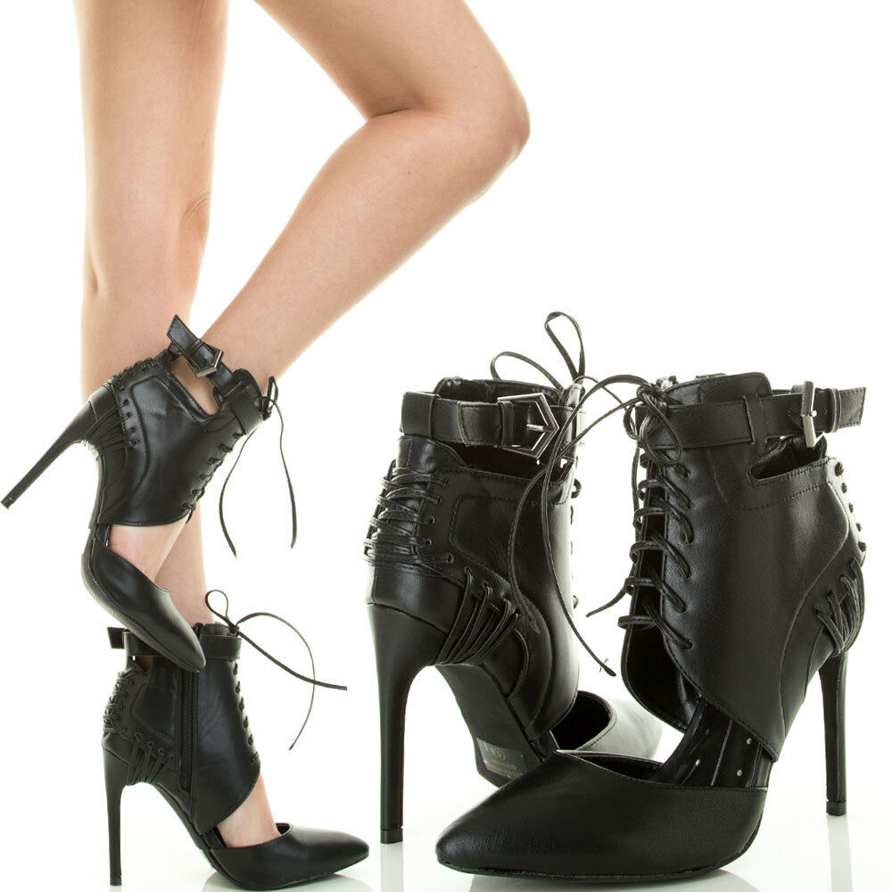 Ankle Pump Lace Up Shoes