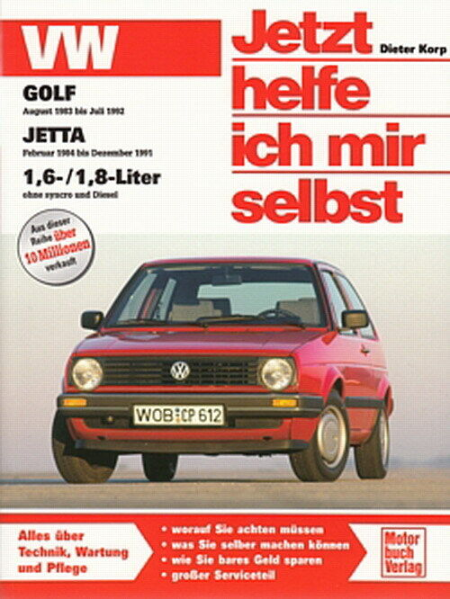 vw golf 2 1983 92 reparaturanleitung jetzt helfe ich mir selbst handbuch wartung ebay. Black Bedroom Furniture Sets. Home Design Ideas