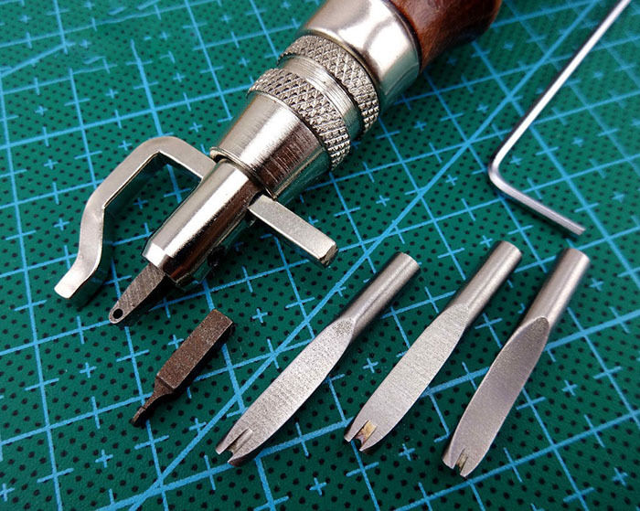 leather craft tools 5in1 pro adjustable leathercraft edge stitching groover 2321