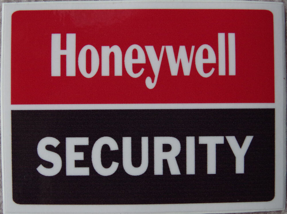 Set 10 Honeywell Safety Security Alarm Sticker Home