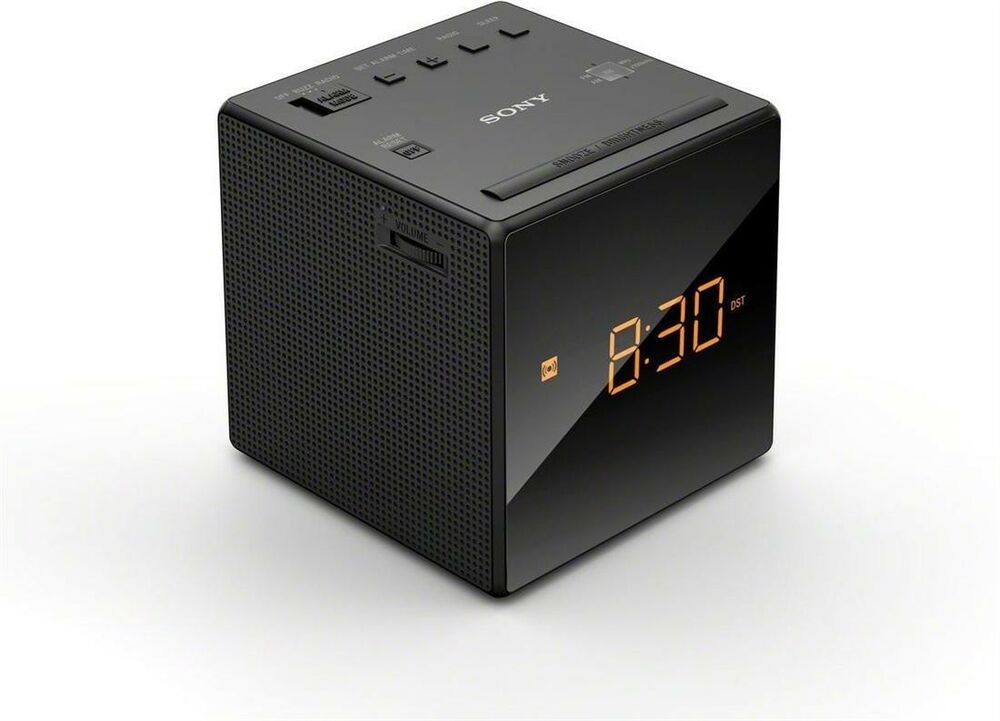 Sony - Single Alarm Clock Radio FM / AM
