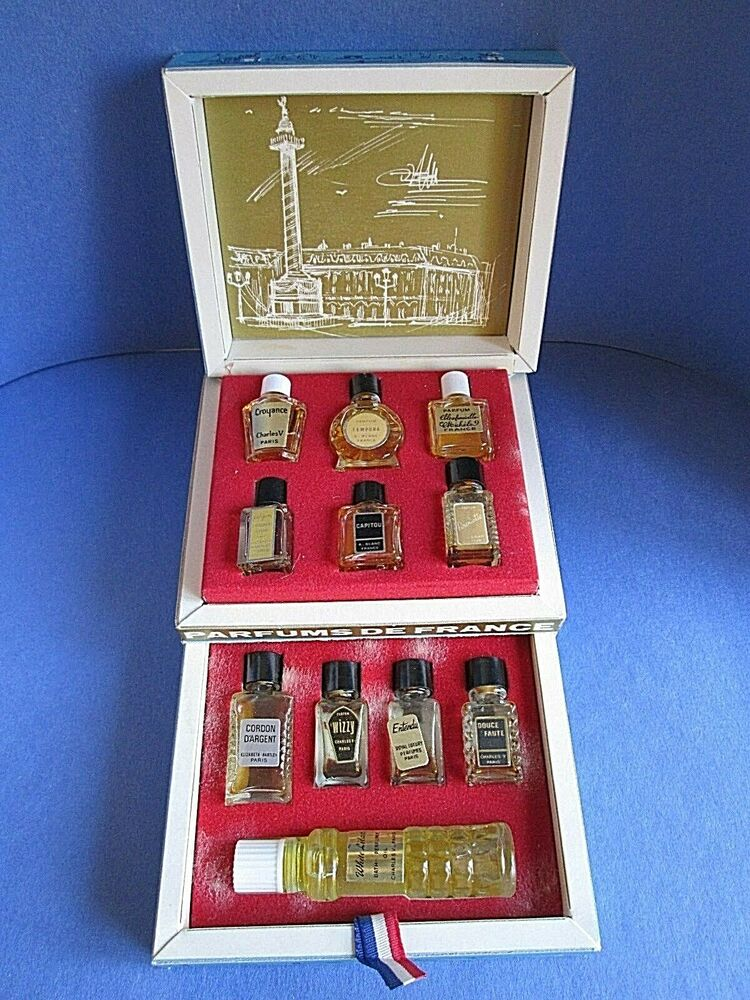 Parfums De France Mini Set Of 11 Vintage Perfume Bottles