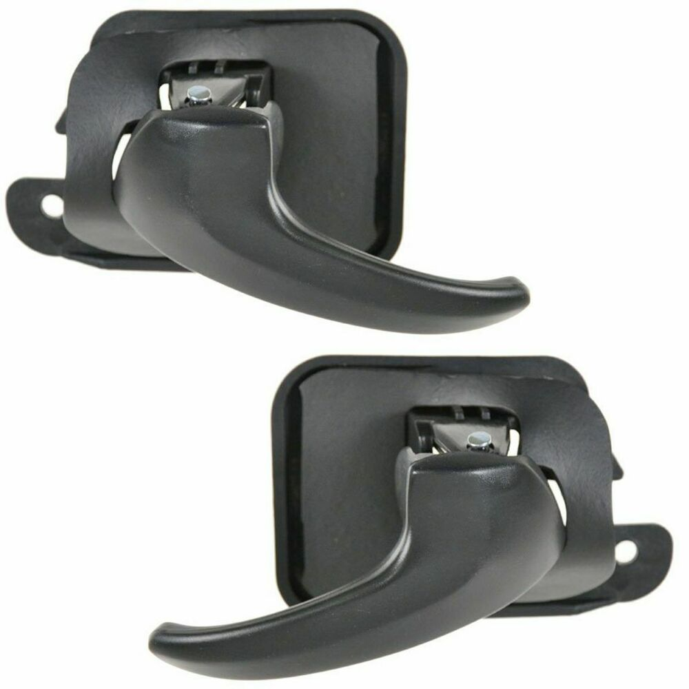 Black Interior Inside Door Handle Pair Set For 94 04 Ford