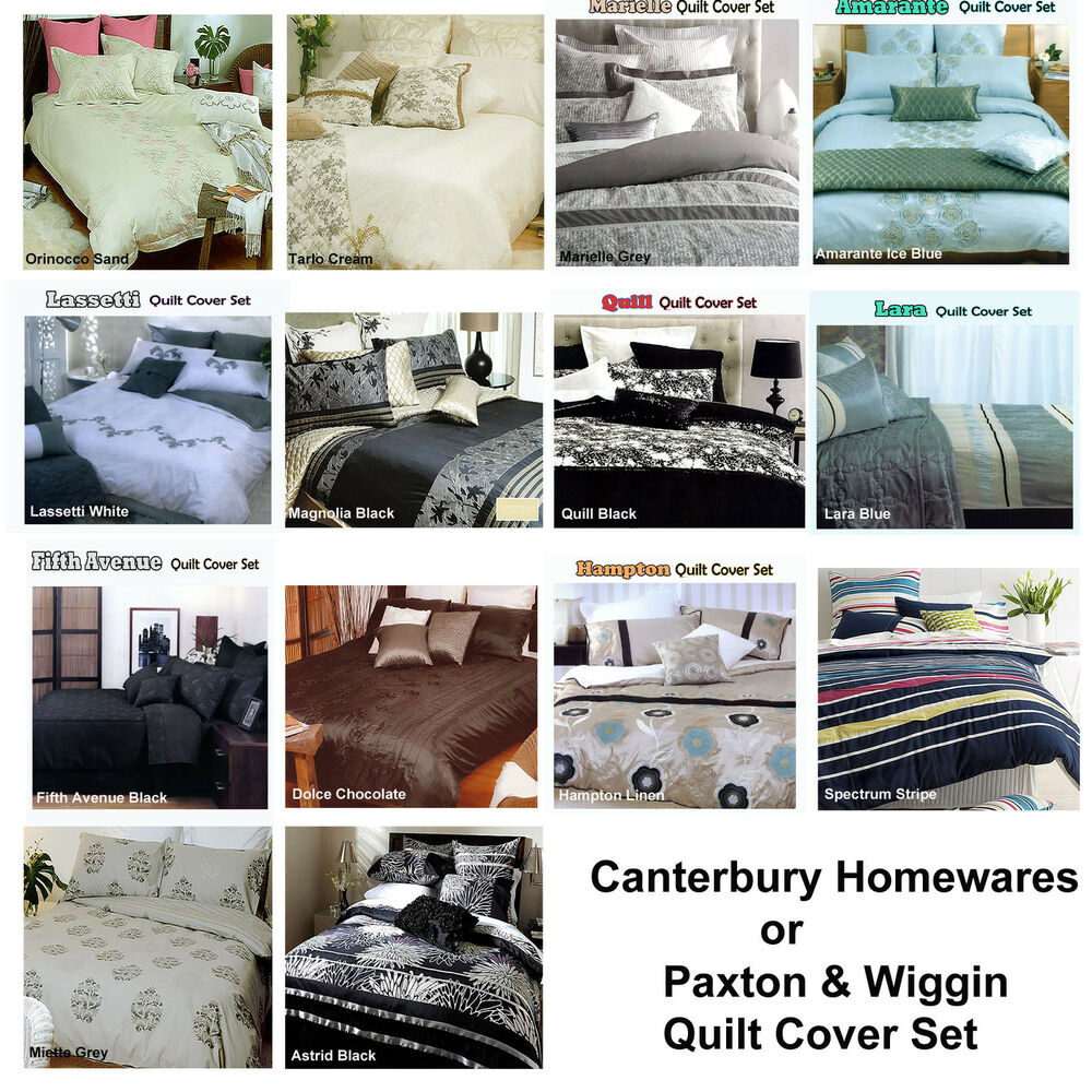 Quilt Duvet Cover Set Canterbury Homewares Paxton