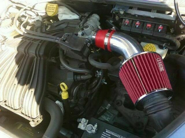ram air intake kit red filter for 01 09 chrysler pt. Black Bedroom Furniture Sets. Home Design Ideas