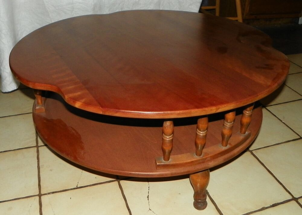 Maple Round Coffee Table By Ethan Allen Rp Ct98 Ebay