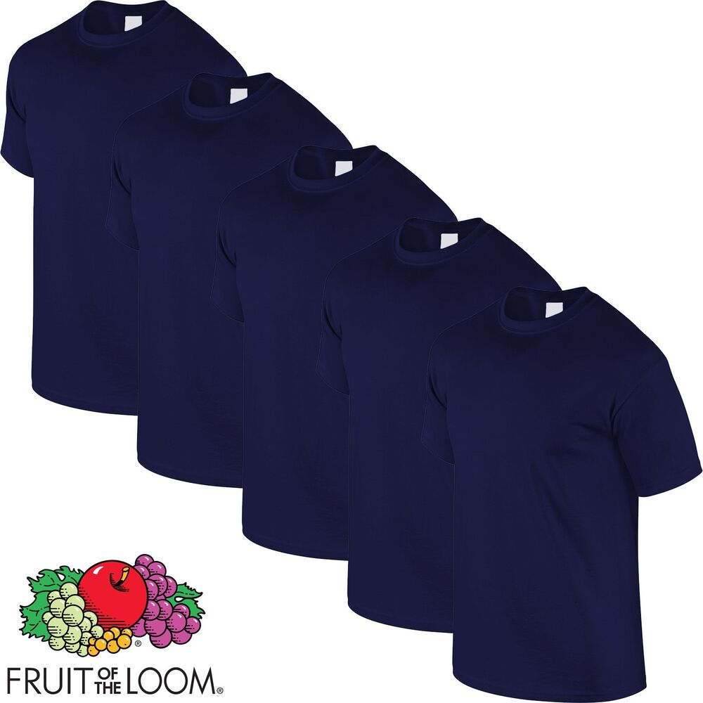 navy blue 5 pack mens fruit of the loom plain cotton. Black Bedroom Furniture Sets. Home Design Ideas