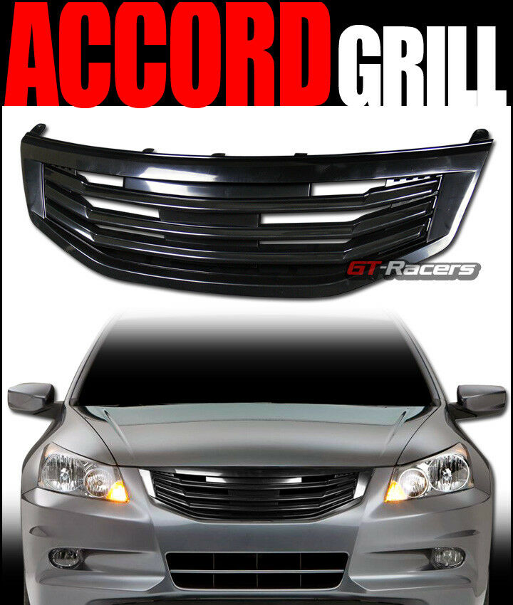 For 2011 2012 Honda Accord Sedan Black Mu Front Bumper