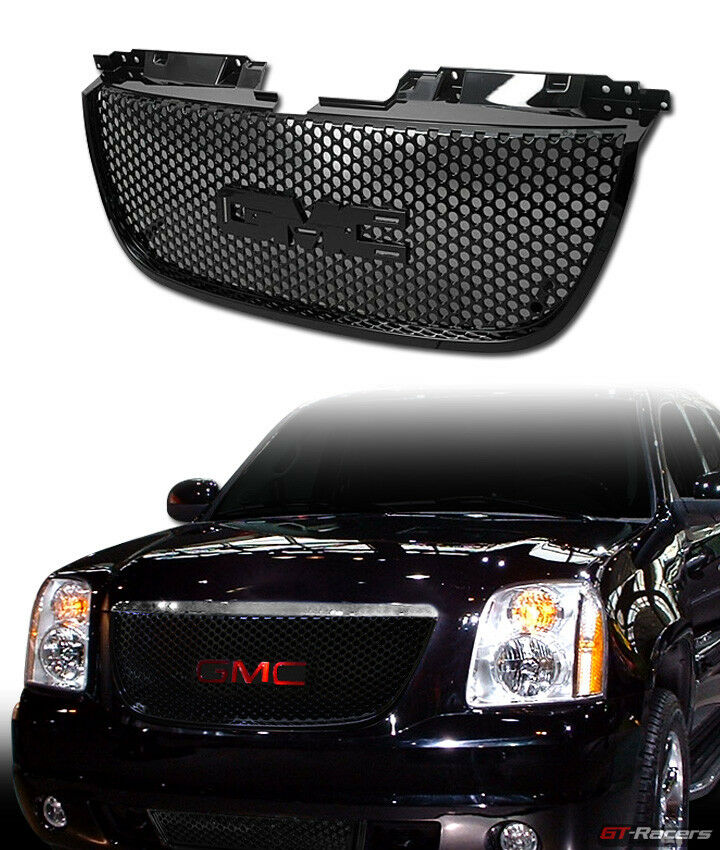 BLACK FOR 2007-2014 GMC YUKON DENALI ROUND HOLE MESH FRONT ...