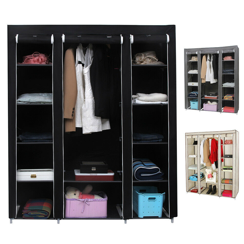 kleiderschrank faltschrank garderobe stoffschrank. Black Bedroom Furniture Sets. Home Design Ideas